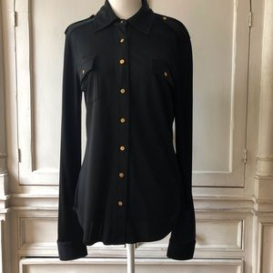 Tory Burch Blouse with Logo Buttons.
